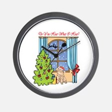 Shar Pei Christmas Wall Clock