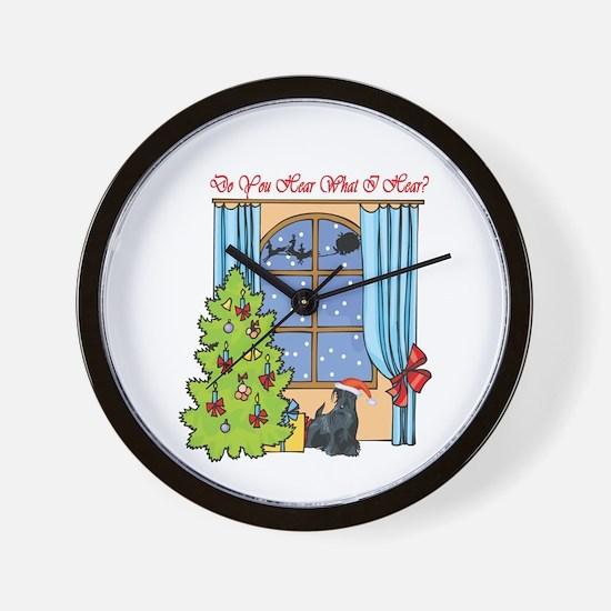 Scottie Christmas Wall Clock