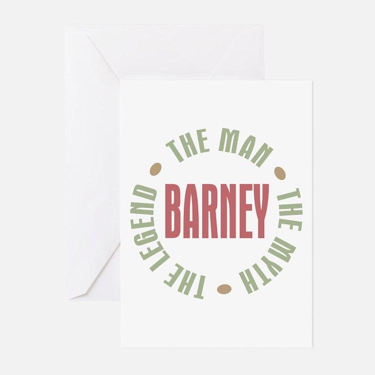 Barney Man Myth Legend Greeting Cards (Pk of 10)
