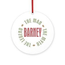 Barney Man Myth Legend Ornament (Round)