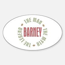 Barney Man Myth Legend Oval Decal
