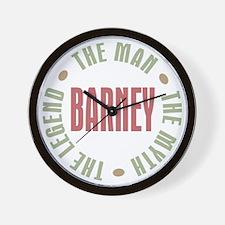 Barney Man Myth Legend Wall Clock