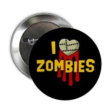 """I heart Zombies 2.25"""" Button"""