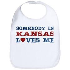 Somebody in Kansas Loves Me Bib