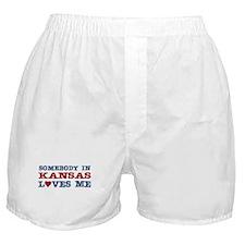 Somebody in Kansas Loves Me Boxer Shorts