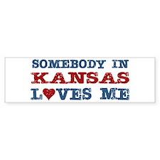Somebody in Kansas Loves Me Bumper Bumper Sticker