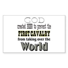 First Cavalry, Beer & God Rectangle Decal