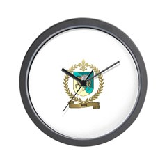 BLOU Family Crest Wall Clock