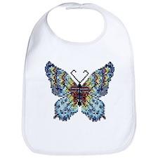 Intricate Hand-Beaded Butterfly Bib