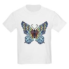 Intricate Hand-Beaded Butterfly Kids T-Shirt