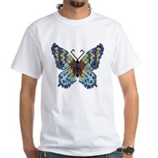 Intricate Hand-Beaded Butterfly Shirt
