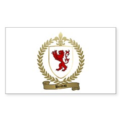 BOILEAU Family Crest Rectangle Decal