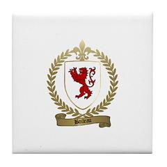 BOILEAU Family Crest Tile Coaster