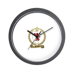 BOILEAU Family Crest Wall Clock