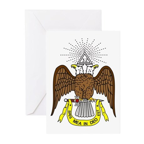 Scottish Rite 32nd Degree Greeting Cards (Pk of 10