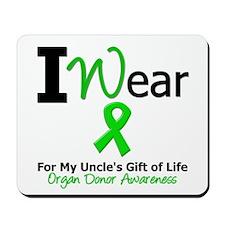 I Wear Green (Uncle) Mousepad