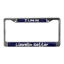 Funky Love Llewellin Setter License Plate Frame