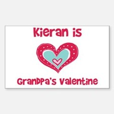 Kieran is Grandpa's Valentine Rectangle Decal