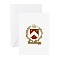 CHARLAND Family Crest Greeting Cards (Pk of 10