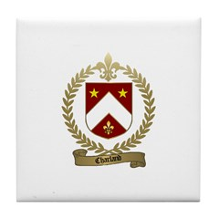 CHARLAND Family Crest Tile Coaster