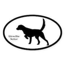 Llewellin Setter Silhouette Sticker (Euro Style)