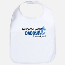 Welcome Home Daddy *navy* Bib