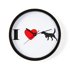 I Heart Llewellin Setter Wall Clock
