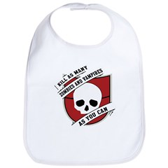 Kill As Many Zombies And Vamp Bib
