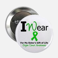 """I Wear Green (Sister) 2.25"""" Button"""