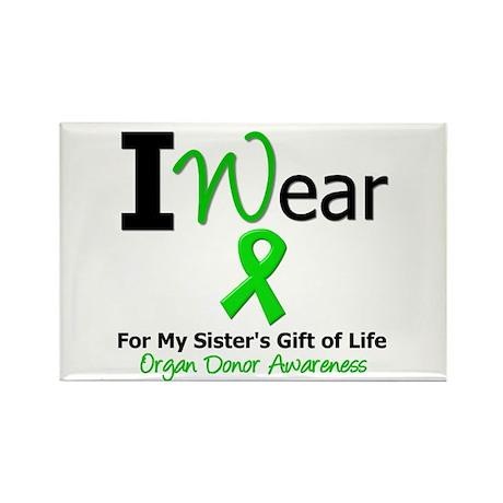 I Wear Green (Sister) Rectangle Magnet