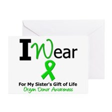 I Wear Green (Sister) Greeting Cards (Pk of 10)