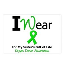 I Wear Green (Sister) Postcards (Package of 8)