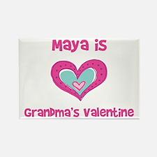 Maya is Grandma's Valentine Rectangle Magnet
