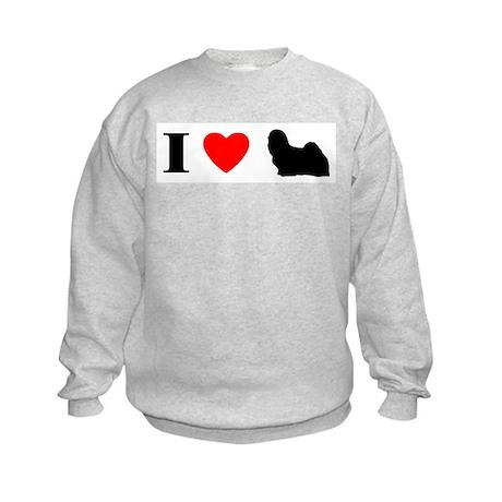 I Heart Lhasa Apso Kids Sweatshirt