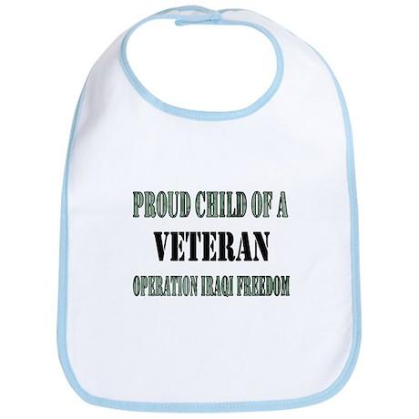 Proud Child of a Veteran Iraq Bib