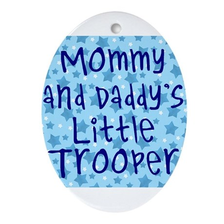 Little Trooper Oval Ornament