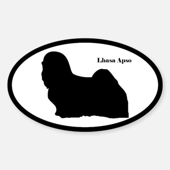 Lhasa Apso Silhouette Sticker (Euro Style)