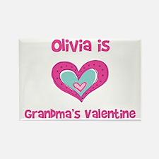 Olivia is Grandma's Valentine Rectangle Magnet