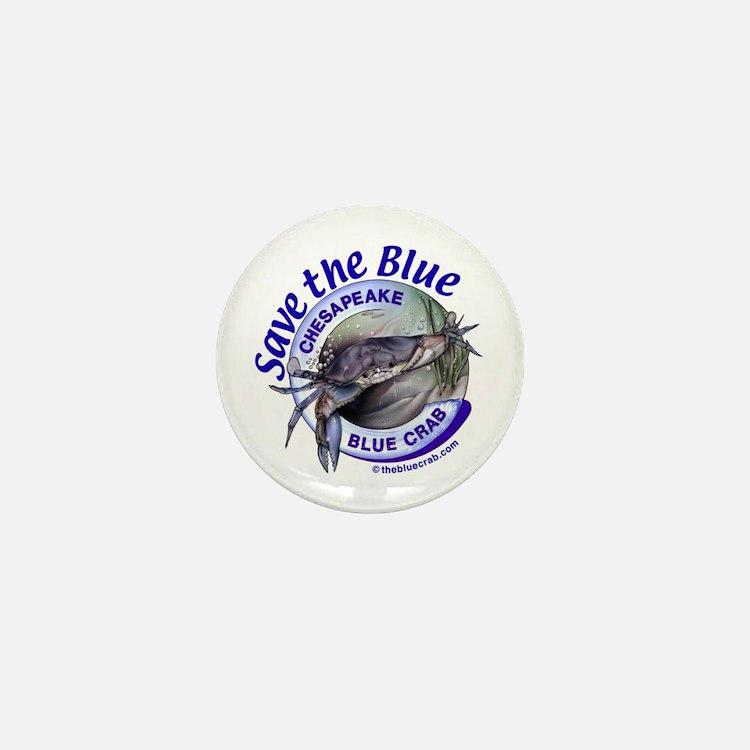 """Save the Blue"" Mini Button"