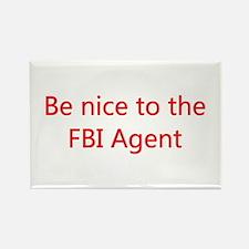 FBI Agent Rectangle Magnet (10 pack)
