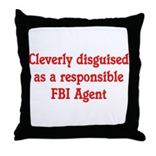 FBI Agent Throw Pillow