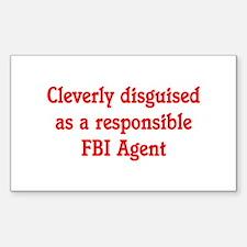 FBI Agent Rectangle Sticker 10 pk)
