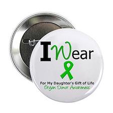 "I Wear Green (Daughter) 2.25"" Button"