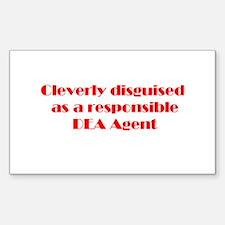 DEA Agent Rectangle Sticker 10 pk)