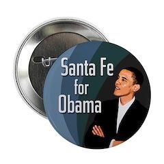 Santa Fe for Obama campaign button