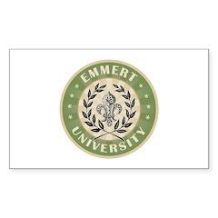 Emmert Last Name University Rectangle Decal