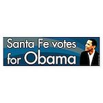 Santa Fe votes for Obama bumper sticker