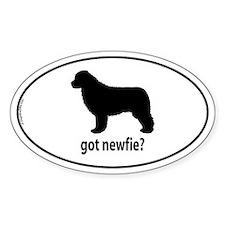 Got Newfie? Oval Decal