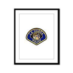 La Habra Police Framed Panel Print