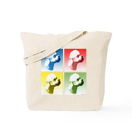 Dandie Dinmont Pop Art Tote Bag